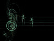Abstract  treble clef Royalty Free Stock Photography