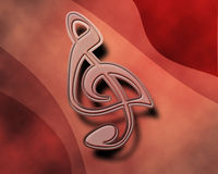 Abstract treble clef symbol Stock Photo