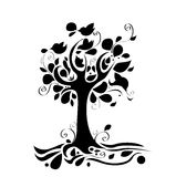 Abstract tree. With nice design element Royalty Free Stock Photo