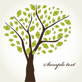 Abstract tree. Beautiful artwork suitable for greeting card, posters, books, poetry Stock Image