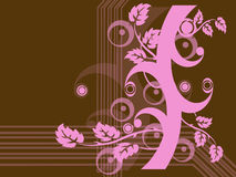 Abstract Tree. Design in pink and brown; computer illustration royalty free illustration