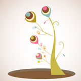 Abstract tree. With colorful colors vector illustration