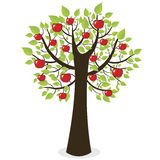 Abstract tree. Abstract apple tree on white background Royalty Free Stock Photos