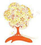 Abstract tree - autumn Stock Image