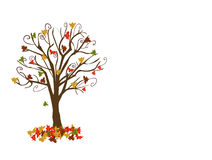 Abstract tree with autumn leaves Stock Photos