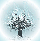 Abstract tree background stock illustration