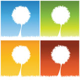 Abstract tree background. Vector illustration Royalty Free Stock Photo