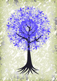 Abstract tree with background Royalty Free Stock Photo