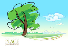 Abstract Tree  Background - Stylized Stock Photo