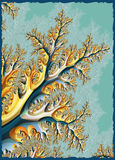 Abstract Tree Branch. Design created in a fractal program stock illustration