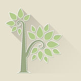 Abstract Tree on brown background Stock Photos