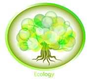 Abstract tree from circles. Ecological background. Royalty Free Stock Photos