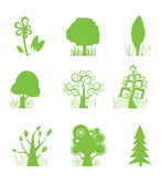 Abstract Tree Collection icon. Illustration Royalty Free Stock Images