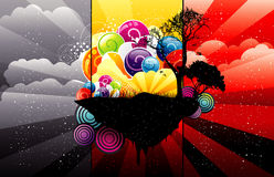 Abstract tree color illustration Royalty Free Stock Images