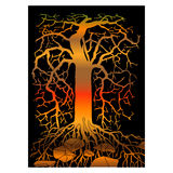 Abstract  tree Stock Image