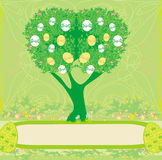 Abstract tree with Easter eggs Royalty Free Stock Photo