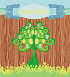 Abstract tree with Easter eggs Royalty Free Stock Image