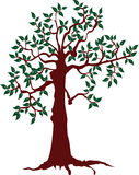 Abstract tree. Ecology concept with tree. Background. Vector illustration Stock Image