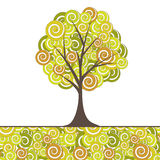 Abstract tree, flowers. Vector illustration Royalty Free Stock Photos