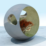 Abstract Tree Globe stock illustration
