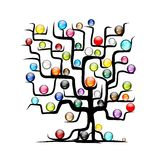 Abstract tree with glossy balls for your design Stock Image