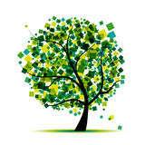 Abstract tree green for your design Stock Image