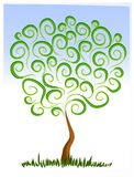Abstract Tree Growing Clip Art stock illustration