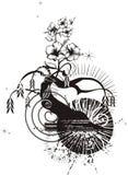 Abstract Tree Grunge stock illustration