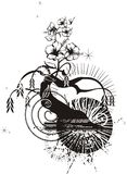Abstract Tree Grunge. Background, illustration series stock illustration