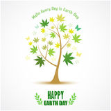 Abstract tree for Happy Earth Day Royalty Free Stock Image