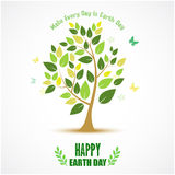 Abstract tree for Happy Earth Day Royalty Free Stock Photos