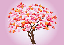 Abstract tree with heart Royalty Free Stock Image