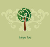 Abstract Tree Icon Stock Image