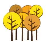Abstract tree icon image. Abstract trees fall season  icon image vector illustration design Royalty Free Stock Photo