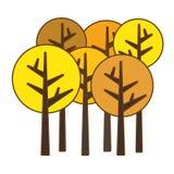 Abstract tree icon image. Abstract trees fall season  icon image vector illustration design Royalty Free Stock Photos