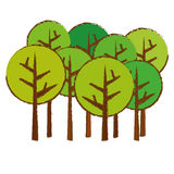 Abstract tree icon image. Abstract trees icon image vector illustration design Royalty Free Stock Photography