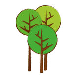 Abstract tree icon image. Abstract trees icon image vector illustration design Stock Photography