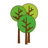 Abstract tree icon image. Abstract trees icon image vector illustration design Stock Images