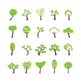 Abstract tree icon set, vector eps10 Stock Photos