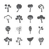 Abstract tree icon set, vector eps10 Stock Photos
