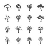 Abstract tree icon set, vector eps10 Stock Photo
