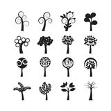 Abstract tree icon set, vector eps10 Stock Photography