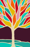 Abstract tree illustration with colorful branches Royalty Free Stock Images