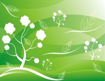 Abstract tree  Illustration green Stock Images