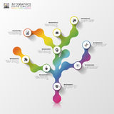 Abstract tree. Infographic design template. Colorful concept with icons. Vector illustration.  Royalty Free Stock Photo