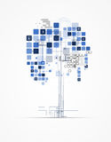 Abstract tree internet computer technology business solution Stock Photos