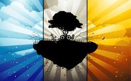 Abstract tree island Royalty Free Stock Photography