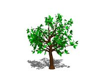 Abstract tree. Isolated on white background. 3D rendering illust. Ration Stock Photos