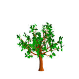 Abstract tree. Isolated on white background. 3d Vector illustrat. Ion Royalty Free Stock Images