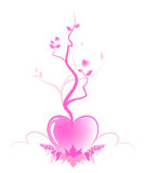 Abstract tree of love Royalty Free Stock Image